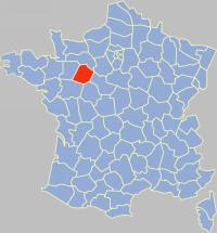 departement 72 carte - Image