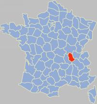 Localisation du département du Rhône