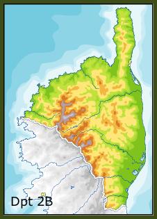 Carte Haute Corse Communes.Liste Des Communes De La Haute Corse Geneawiki