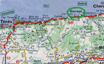 Carte Algerie Tipaza.Algerie Gouraya Geneawiki