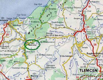 Carte Algerie Maghnia.Algerie Nedroma Geneawiki