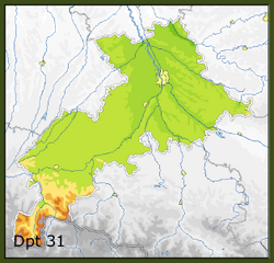 Liste des communes de la haute garonne geneawiki for 31 haute garonne carte