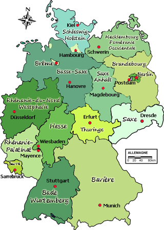 Carte Allemagne Lander.La Republique Federale D Allemagne Geneawiki