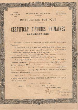 Histoire de l 39 ducation en france geneawiki - Certificat d heredite avec porte fort ...
