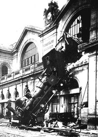 Accident en Gare de Montparnasse - 22 octobre 1895
