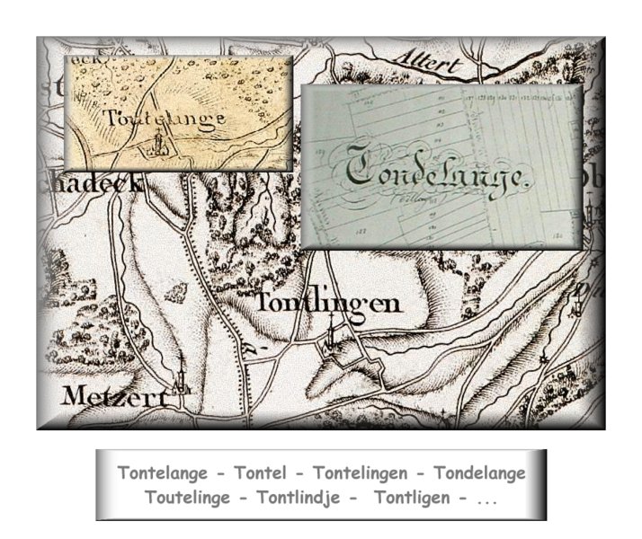 Fichier:Differences write the name Tontelange ( Belgium ).png